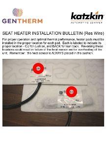 Seat Heater Installation