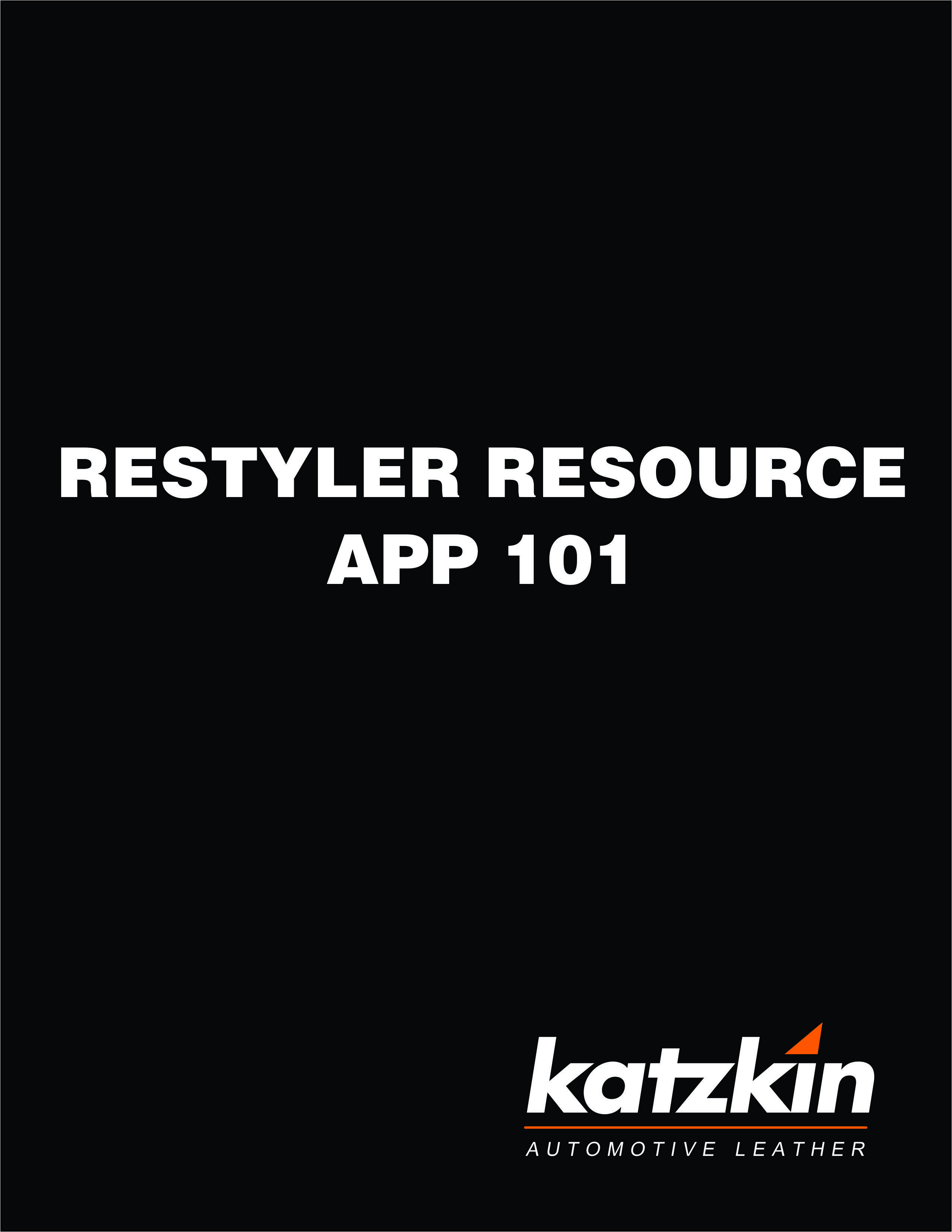 Katzkin Restyler Resource App 101