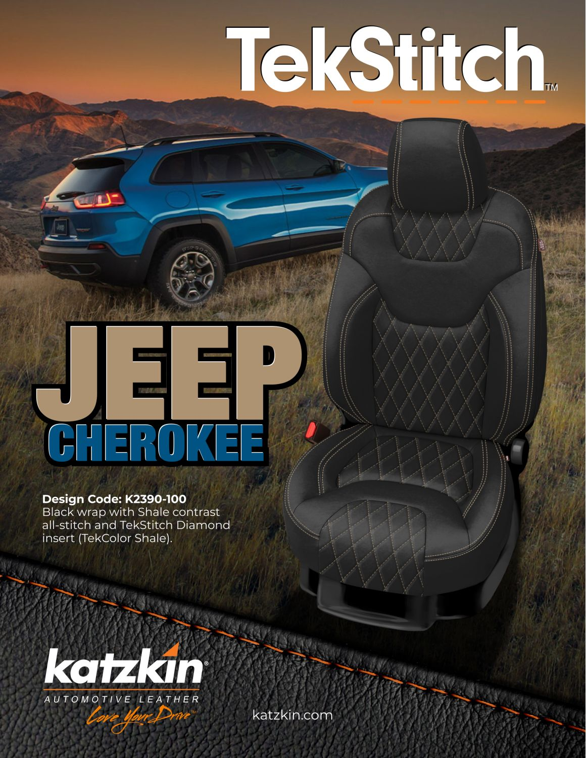 JEEP CHEROKEE TEKSTITCH