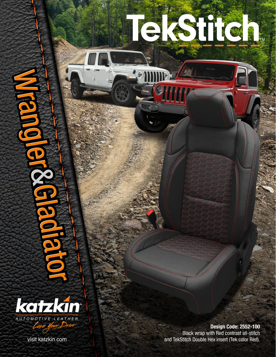 Jeep Wrangler & Gladiator TekStitch Double Hex